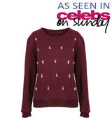 Wine Skull Detail Sweatshirt